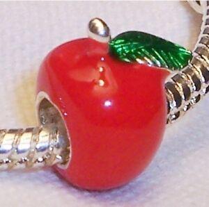 5e93099d8a Caricamento dell'immagine in corso Mela-Rosso-Smalto-Verde-Frutta -Cibo-Insegnante-Regalo-