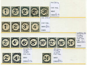 Trinidad-amp-Tobago-1885-to-1955-run-of-20-postage-due-mint-or-used-2020-02-07-02
