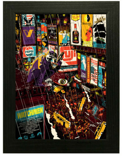 A3 A4 Framed Option Watchmen Classic Movie Poster Canvas Art Print