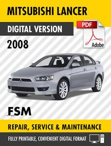 2008 Mitsubishi Lancer Factory Service Repair Manual Workshop Manual Ebay