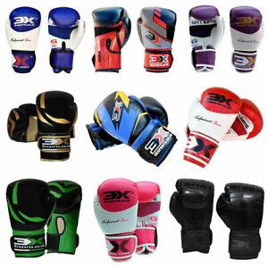1Paar Boxhandschuhe Leder Boxen Handschuhe kickboxen Training Boxing Gloves