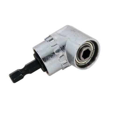 """WRENCH SHORT 37MM ANGLED BIT HOLDER OFFSET QUICK RELEASE 1//4/"""" HEX FOR DRILL"""