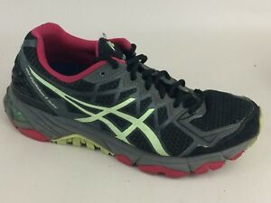 oración Descripción Profesor  ASICS Womens 7 M GEL-FujiTrabuco 4 Neutral Running Shoe Sneaker Black Pink  Green | eBay