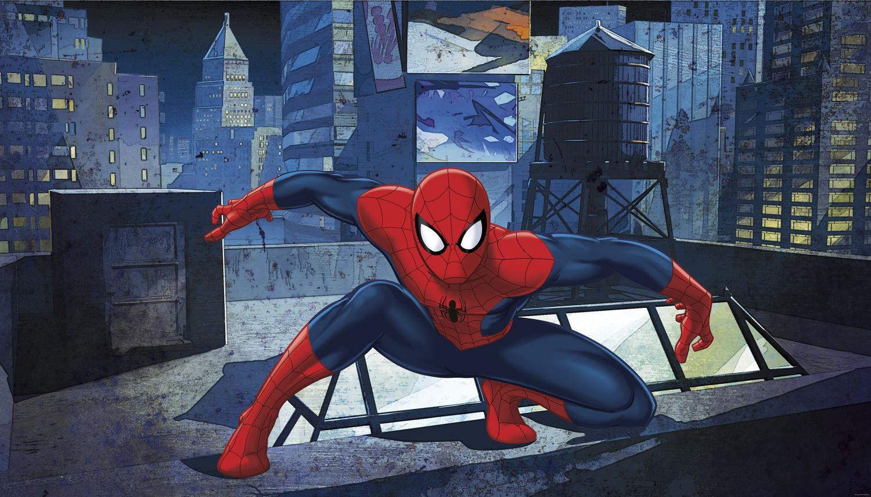 ULTIMATE SPIDERMAN XL WALL MURAL Prepasted Wallpaper Marvel Room Decor JL1406M