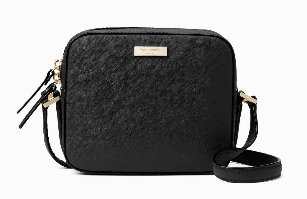 Kate Spade Newbury Lane Cammie Leather Box Camera Bag Crossbody Nwt Black