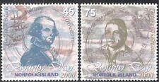 Norfolk Island 2000 Bounty Day/Boat/Ship/People/Mutiny/Transport 2v set (n18062)