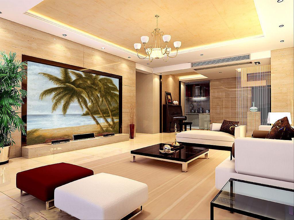 3D Kokosnussbaum Strand 742 Tapete Wandgemälde Tapete Tapeten Bild Familie DE