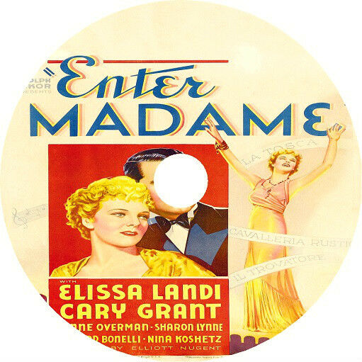 Enter Madame DVD Cary Grant Elissa Landi 1935 Very rare