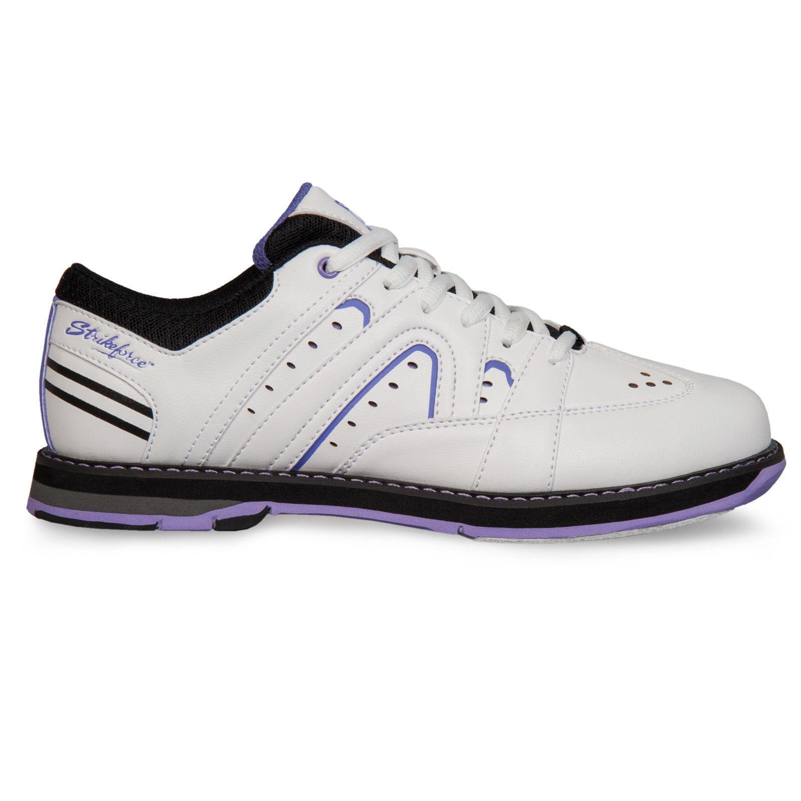 New Women's KR Strikeforce Quest White Purple Bowling shoes Size 7