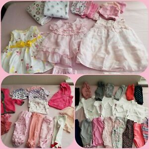 BABY-GIRL-0-3-Months-Mixed-items-lot-47-items-Super-Variety-No-stains-EUC