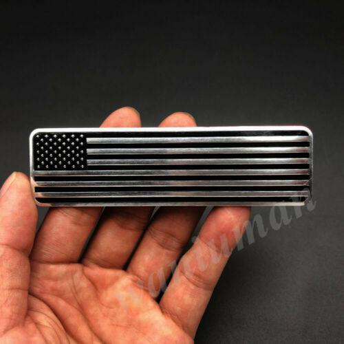 4x Black Metal USA American Flag Car Emblem Badge Motorcycle Gas Tank Sticker