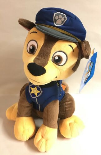 "Paw Patrol CHASE Plush 16/"" Pup Boy Dog Blue Nickelodeon Nick Jr Toy New"