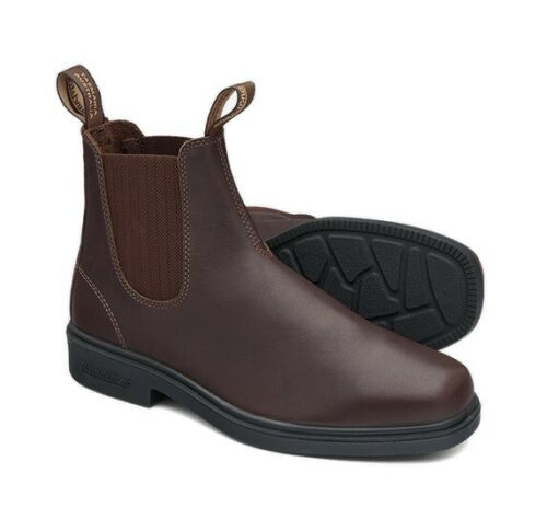 Non Safety #659 Elastic Sided Brown Dress Leather Slip On Boot Blundstone