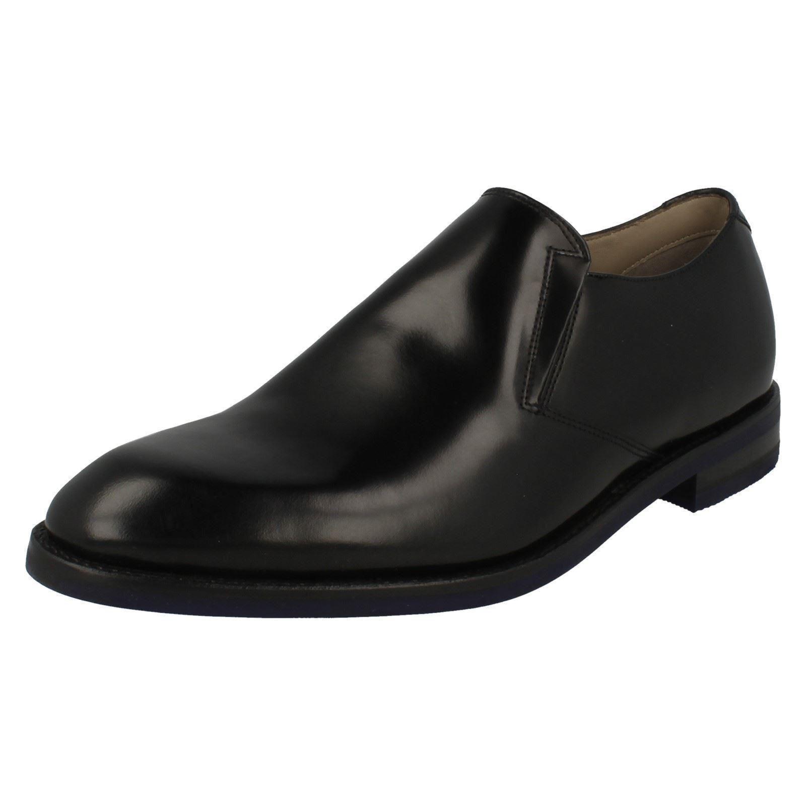 Uomo Clarks Slip Swinley Step Smart Leder Slip Clarks On Schuhes G Fitting 076661