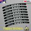 Excel Takasago 3M Vinyl Decal Sticker Bike Bicycle Wheel Rim Reflective Silver