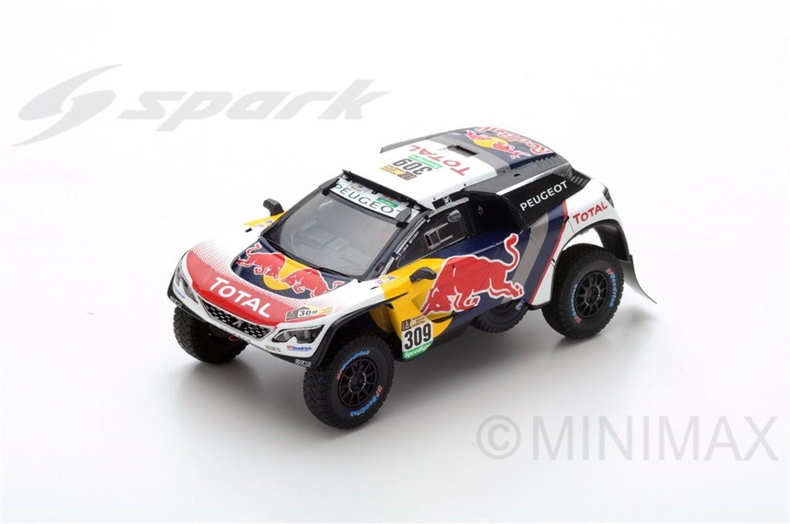 SPARK PEUGEOT 3008 DKR  309 2nd Dakar 2017 S. Loeb - D. Elena S5610 1 43
