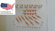 Lotos Plasma Cutter Consumables 40pcs For Lotos Lt5000d Extended Copper Red