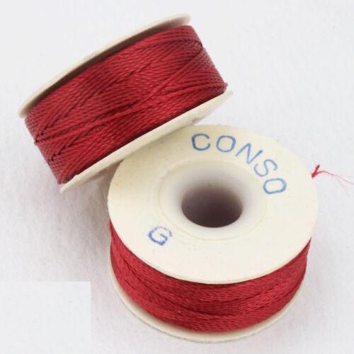 Red Conso Nylon Size G Thread #CDD011