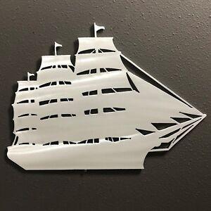 SHIP-Aluminum-Metal-Wall-Art-12-x-9-Skilwerx-Nautical-Ocean-Beach-House-Decor