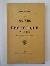 MANUEL DE PHONETIQUE 1931 BRUNEAU
