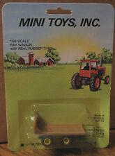 Mini Toys Inc #104 Green Hay Wagon 1/64 NEW!  john deere jd  oliver  Toy Farmer