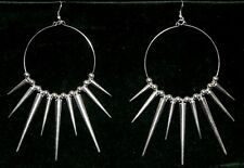 Steampunk Vampire Tribal Gypsy Gothic Goth Belly Dancing Spike Emo Hoop Earrings