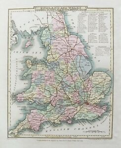 Map Of England 200.Old Antique Map England Wales Uk C1809 By Roper Cole 19th