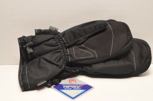 LARGE HJC STORM SNOW MITTS SNOWMOBILE MITTENS BLACK YOUTH SIZES MEDIUM