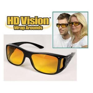 HD antireflet avec Vision Nocturne Conduite Lunettes De Soleil Unisexe sur Enveloppe Autour De Lunettes
