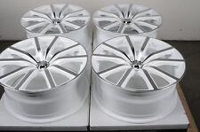 18 5x112 White Rims Fits Mercedes Benz  C E Class Volkswagen Passat Jetta Wheels