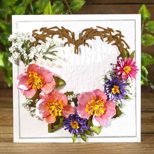 Oil Painting Sense 3D Flowers Metal Cutting Dies Scrapbooking DIY Embossing Card