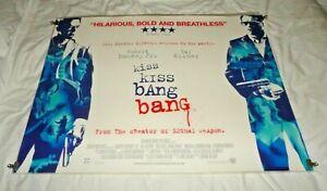 Kiss Kiss Bang Bang Original UK Quad Movie Cinema Poster 2005 Robert Downey Jr