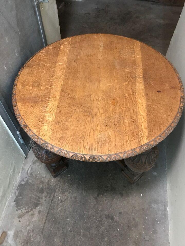 Sofabord, egetræ, b: 85 h: 57
