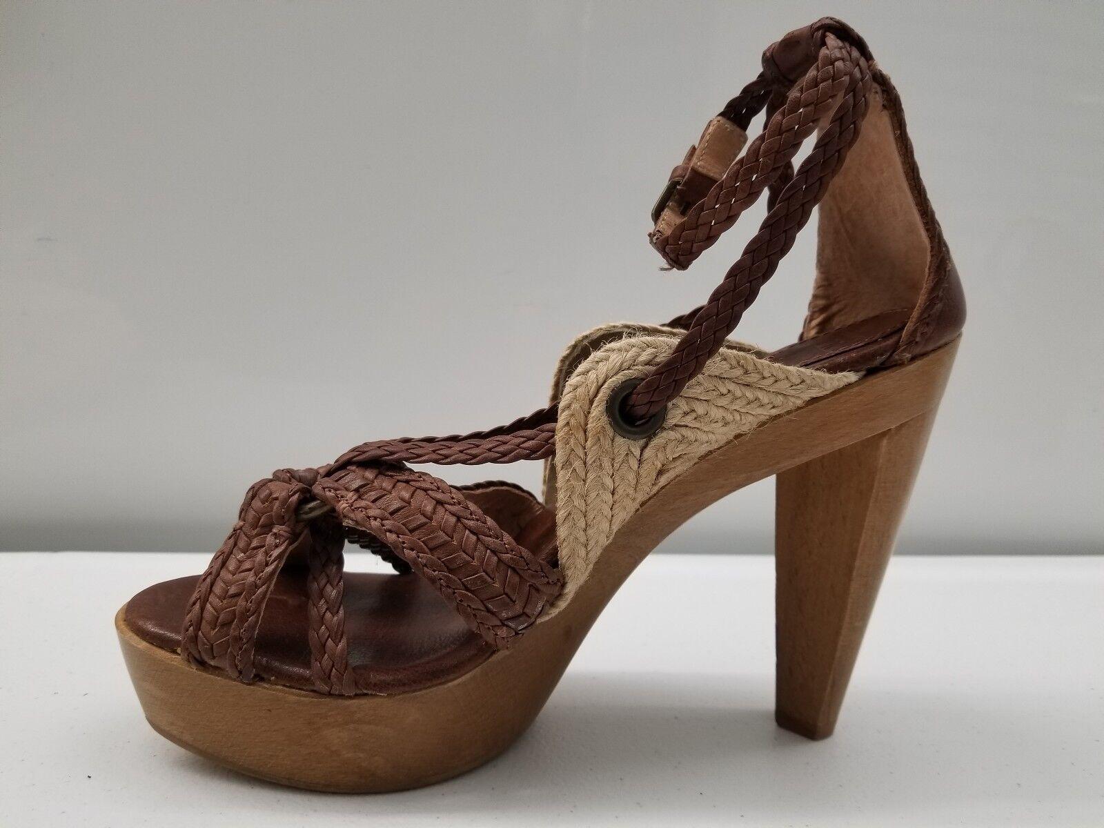 FRYE Huarache Slingback Floor Leder Braided Strap Heels Größe 8B Floor Slingback Model d40d4b