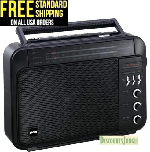 RCA RP7887 Super Radio 3 AM//FM High-Performance Super Radio III Receiver BLACK