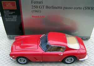 CMC 1:18 scale 1961 Ferrari 250 GT Berlinetta Passo Corto SWB Red *NEW*