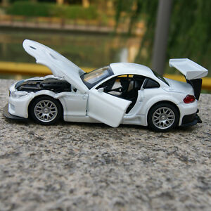 BMW-Z4-GT3-Model-Cars-Sound-amp-Light-1-32-Collection-amp-Gifts-Alloy-Diecast-White-New
