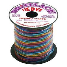 100 FEET (30m) SPOOL CLEAR TYE DYE BRITELACE REXLACE PLASTIC LACING CRAFTS