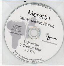 (DG335) Meretto, Street Talking sampler - 2009 DJ CD
