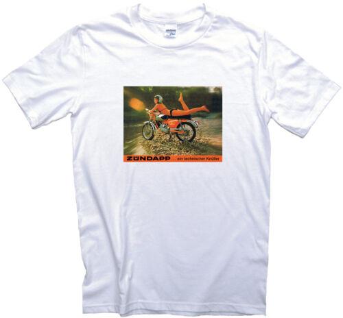 Motorbike Biker Gift Motorcycle Zundapp Girl Vintage Ad T-Shirt 12 Sizes