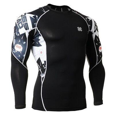 FIXGEAR C2L-B17 Compression Base Layer Shirt for Workout Gym MMA Sportswear