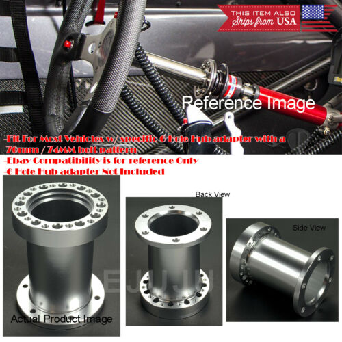 """Details about  /4/"""" Silver Steering Wheel 6 Hole Hub Extender Extension Spacer For Toyota Scion"""