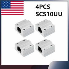 4pcs Sc10uu 10mm Slider Linear Motion Ball Bearing Slide Bushing Replacement Cnc