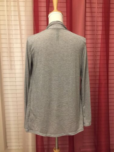 Grey Cardigan With Assymeric Hem M