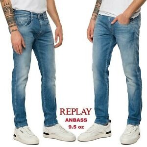 Jeans-da-uomo-REPLAY-slim-ANBASS-comfort-denim-leggero-9-5-oz-vintage-M914Y-115