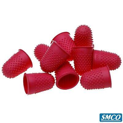 SMCO Quality Flexible Rubber Thimblette Blue Size 1 18mm Finger Cone Thimble 10