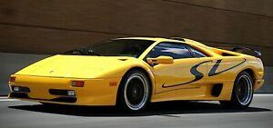 Lamborghini Diablo SV - Logo Decal Stickers - Brand New (Any Color Available)