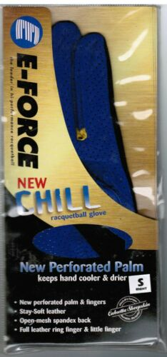 E-Force EForce E Force Racquetball Glove CHILL BLUE COLOR  ONE GLOVE RIGHT SMALL