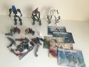 Lego-Bionicle-Restposten-Bundle-Original-Lego-mit-Bauanleitung-unvollstaendig