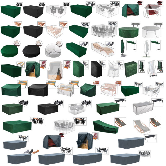 Garden Patio Furniture Cover Set Waterproof Rectangle Outdoor Table Cube Custom